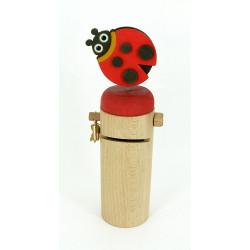 Salvadanaio in legno coccinella il pianeta delle idee