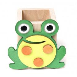 Porte-crayon en bois grenouille il Pianeta delle Idee