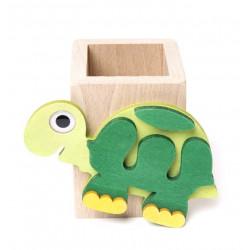 Portamatita in legno tartaruga il Pianeta delle Idee