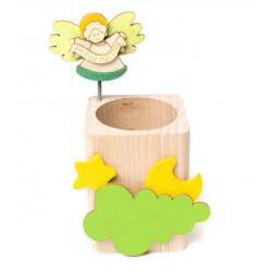 Portamatita legno Angelo custode verde Il Pianete delle idee