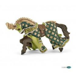 Statuina Cavallo del Maestro delle Armi Stemma Drago Papo 39923