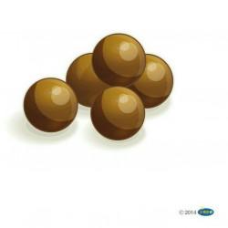 Figurine 5 catapult balls Papo 39261