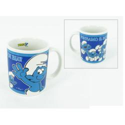 Mug cup smurfs Ediglam 400 ml Original Porcelain