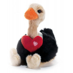 Soft Toy Ostrich with heart Plush & Company 05132