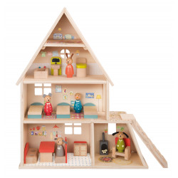 Doll House with furniture Moulin Roty 632420