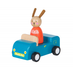 Wooden Blue Car Moulin Roty...