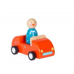Orange wooden car Moulin Roty 632423