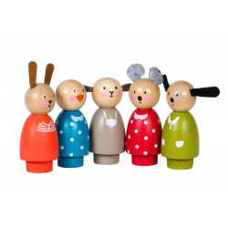 Set of 5  characters Moulin Roty 632421