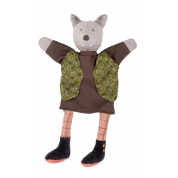Wolf puppet h 34 cm Moulin...