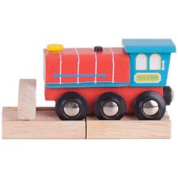 Locomotiva sonora pista trenino in legno Bigjigs BJT462