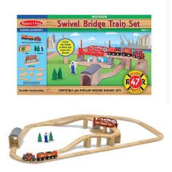 Set Trenino in legno con ponte Melissa & doug 10704