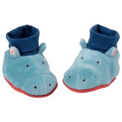Chaussons bébé hippopotame 0-6 mois Moulin Roty 658011