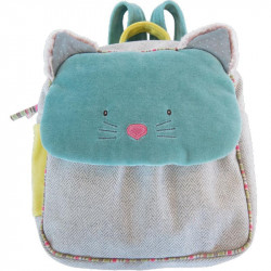 Sac à Dos bleu Chat Moulin Roty 660070