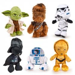 Peluche Star Wars Yoda Chewbecca Dart Fener