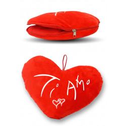 Soft Toy Heart TI AMO with Zip Ø 30CM