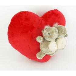 Soft Toy Heart Ø 30 CM with hippopotamus