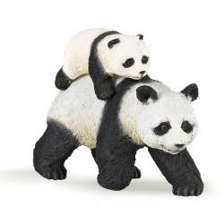 Statuina Panda con cucciolo Papo 50071