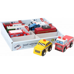 Vehicles 10645 train helicopter police fire brigade Small Foot
