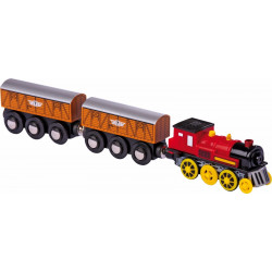 Electric locomotive with 2 trailers Small Foot 5802