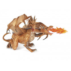 Figurine Two headed dragon gold Papo 38938