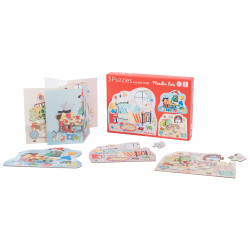 three puzzles character 12 piece Moulin Roty 632627