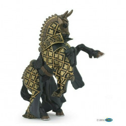 Cavallo del Maestro delle Armi Stemma Toro Papo 39918