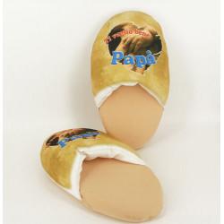Soft slipper with Ti voglio bene papà writing