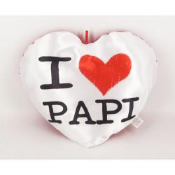 Plush Heart Pillow 35 x 30 I love Papi