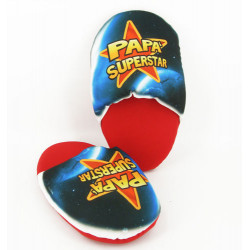 Pair of Slippers with the word Papà Superstar