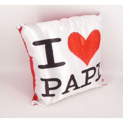 Pillow 30 x 30 I Love Papi - father's Day