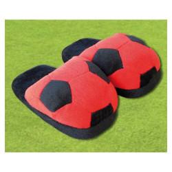 Chaussons souples pour enfants Rouge noir Milan