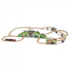 Mountain Tunnel Wooden Train Set Melissa & Doug 10611
