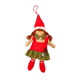 Christmas Elf doll with clock My Doll GZ005