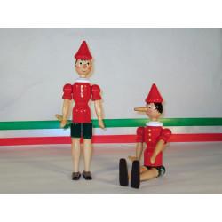 Burattino Pinocchio in Legno H cm 31